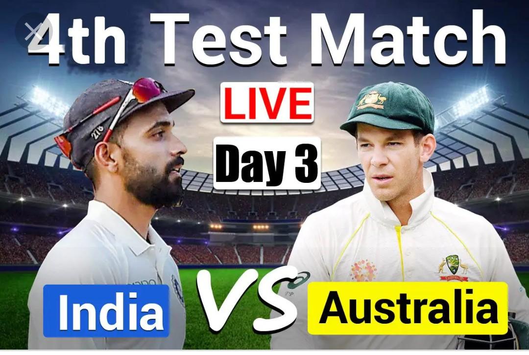 Aus vs Ind 4th Test day 3