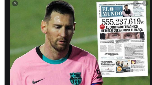Barcelona star Messi's contract,